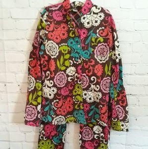Vera Bradley 2 Piece Pajama Set...